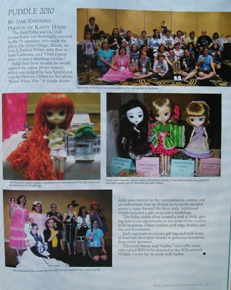 PUDDLE 2010 Coverage in Doll Collector Magazine