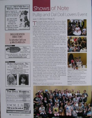 PUDDLE 2011 Coverage in DOLLS Magazine